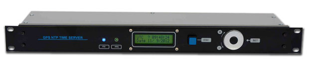 Front Panel Picture - Rack GPS NTP Time Server